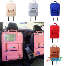 Coche asiento trasero organizador soporte techo multifunción bolsa de almacenamiento de viaje bolsa colgante