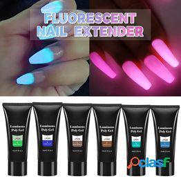 El pegamento de extensión de uñas fluorescente de 6 colores es adecuado para halloween y fiestas