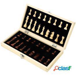 1 juego de ajedrez plegable magnético bonito ajedrez de madera seguro ajedrez magnético juguete educativo