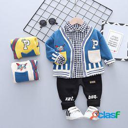 Traje de primavera y otoño para niños 2021 nuevo niño hermoso traje de tres piezas 0-5 modelos de primavera y otoño de estilo extranjero para niños pequeños y medianos ropa para niños 3