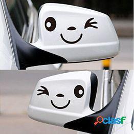 Smile face cbv ala puerta espejo pegatinas calcomanía regalo cumpleaños navidad nuevo golf negro
