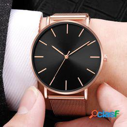 2021 casual relojes simples para mujeres malla de acero inoxidable relojes de oro rosa elegante vestido analógico relojes de cuarzo reloj reloj de pareja zegarek damski