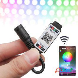 1 unids mini led bluetooth rgb controlador de luz de tira inalámbrico control de teléfono inteligente dc 5-24v 6a para rgb 3528 5050 tira
