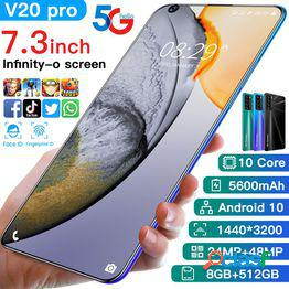 Teléfono móvil v20 pro 7.3 pulgadas android smart phone explosion modelos teléfono móvil