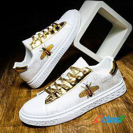 Zapatos blancos zapatos de lona zapatos casuales zapatilla de deporte calle transpirable moda masculina