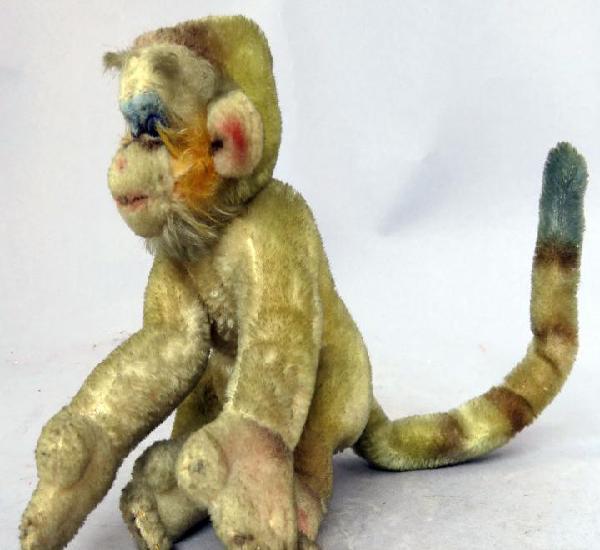 Mono peluche articulado ojos cristal años 40 - 50 tipo