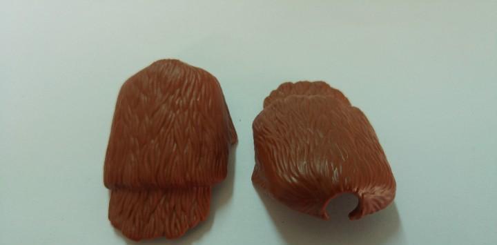 Playmobil lot 2 capas de piel de oso marrones medieval