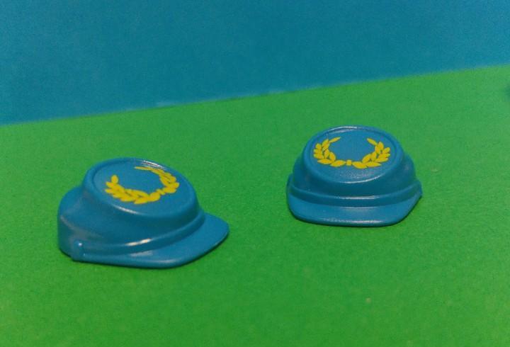 Playmobil lote 2 gorras azul claro soldado la union oeste