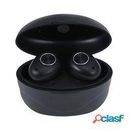 Auriculares inalámbricos s9 5.0 auriculares inalámbricos inear auriculares portátiles para exteriores con base de carga (negro)