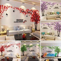 3d dormitorio sofá fondo salón adorno árbol hojas pegatinas de pared