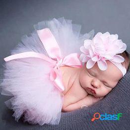 Infantil bebé niña tutu vestido y conjunto de diadema bebé recién nacido foto accesorios de fotografía