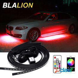 4pcs car underglow led strip light kit app/control remoto rgb color atmosphere lámpara decorativa led environment light auto backlight