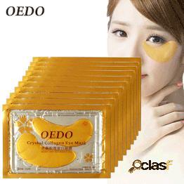 Antienvejecimiento cristal de oro colágeno máscara para los ojos parches para los ojos cristal anti círculo oscuro anti-hinchazón