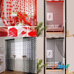 50x200cm love heart string curtain window door divider sheer curtain valance