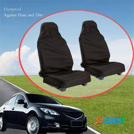 1 juego de protectores de cubierta de asiento de coche traseros delanteros fundas de asiento de nylon impermeables accesorios resistentes al agua