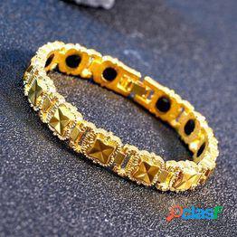 Fashion weight loss bracelet magnetic hematite titanium steel bracelet can improve sleep weight loss ladies bracelet