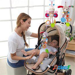 Recién nacido colgando sonajeros juguete de peluche hot baby mobile bed cochecito de dibujos animados juguetes para bebés