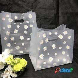 25 piezas de navidad con mango de regalo bolsas de plástico bolsa de regalo bolsas de compras bolsas de embalaje de pastel de caramelo bolsa de embalaje