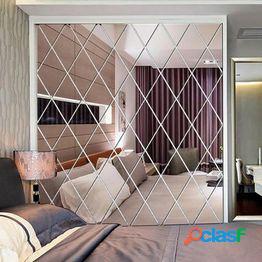 17/32/58pcs autoadhesivo impermeable espejo superficie etiqueta de la pared home diy decal