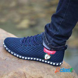 Zapatos casuales para hombres zapatos de red desodorantes transpirables de moda zapatos casuales de moda para hombres