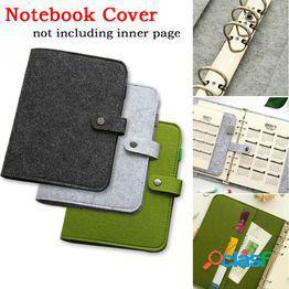 A5 a6 espiral diario de viaje cubierta del cuaderno fieltro 6 agujeros diario de la vendimia diy planificador organizador escuela material de oficina