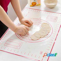 Silicona de fibra de vidrio para hornear tortas para hornear liner pad mat mat rolling dough mat baking pastry tool