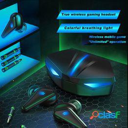 Auriculares inalámbricos bluetooth k55 buena calidad de sonido auriculares para juegos de baja latencia