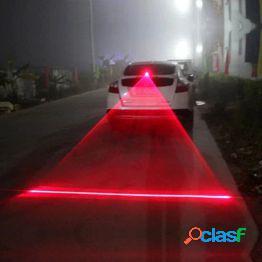 1pc auto auto led luz antiniebla láser vehículo anticolisión luz trasera lámpara de advertencia de freno luz de freno de estacionamiento de automóvil bombilla de advertencia de cola