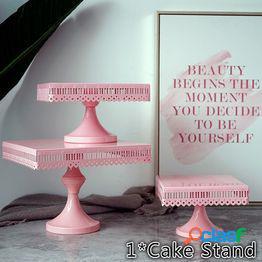Soporte de pastel cuadrado herramientas de pastel de color rosa baby girl decoración de fiesta de cumpleaños utensilios para hornear cocina, comedor y bar