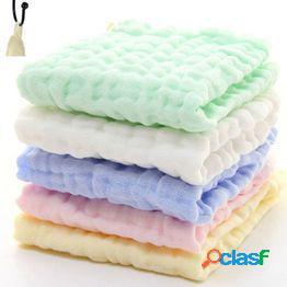 Infantil saliva limpiar suave bebé baño toalla algodón gasa alimentación baberos paño toallita