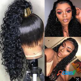 Seda de alta temperatura africana pequeña cabeza explosiva rizada peluca de fibra química de pelo largo y rizado