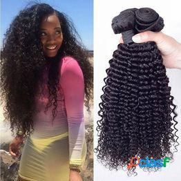 Longitud mixta extensión suave y lisa del pelo pelucas sintéticas paquetes de trama de la armadura kinky trama de pelo rizado