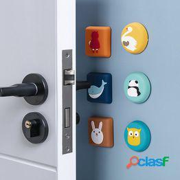 Silicona crash pad cartoon mute engrosado manija de la puerta de la pared anticolisión cerradura de la puerta protección protectora pad pegatinas