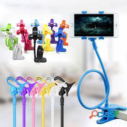 Soporte flexible para teléfono celular móvil de 360 clips soporte para escritorio de cama perezosa soporte de montaje