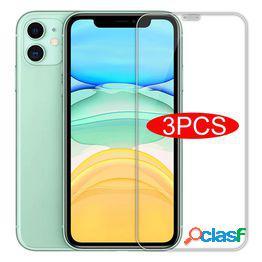 Vidrio 3pcs para iphone x xs max xr vidrio templado para iphone 7 8 6 6s plus 5 5s se 11 12 pro protector de pantalla