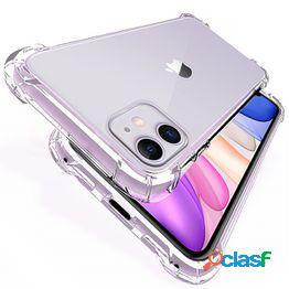 Funda transparente de silicona tpu a prueba de golpes para iphone 12 11 8 7 6 x xs xr xsmax protección transparente