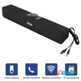 Altavoz bluetooth pc altavoces para computadora con cable tv barra de sonido sistema de cine en casa reproductor de música estéreo bajo subwoofer para computadora portátil