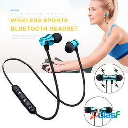 1 xpc auriculares estéreo auriculares magnéticos in-ear sports bluetooth auriculares al aire libre