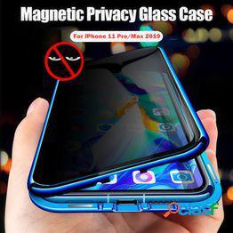Nueva funda protectora de privacidad magnética 360 imán antideslizante para iphone 11/11 pro/11 pro max/6/6s/6 plus/6s plus/iphone 7/7 plus/8/8 plus/funda iphone x/xs/xr/xs max