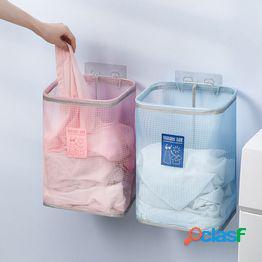 Cesta de lavandería transpirable montada en la pared cesta de almacenamiento de ropa sucia plegable cestas de almacenamiento de ropa de baño organizador de lavandería