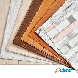 3d etiqueta de la pared de madera decoración para el hogar espuma de pe impermeable recubrimiento de pared papel pintado autoadhesivo para sala de estar dormitorio 3d panel de pared