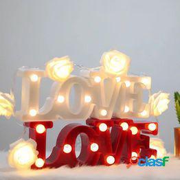 3d love heart led lámparas de letras letrero decorativo para interiores luz de noche marquee decoración de fiesta de bodas regalo romántico 3d led lámpara de noche