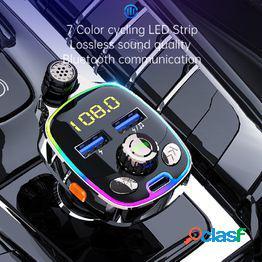 Premium car mp3 player bluetooth-compatible 5.0 para camión radio manos libres ligero buen efecto de sonido