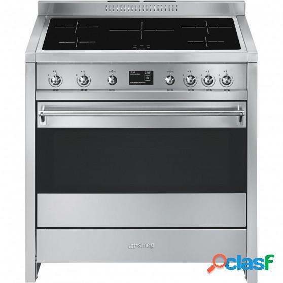 Cocina inducción smeg a1pyid-9 90cm inox