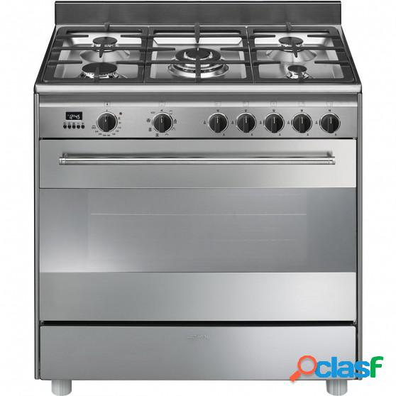 Cocina gas smeg bg91x9-1 90cm inox 5f