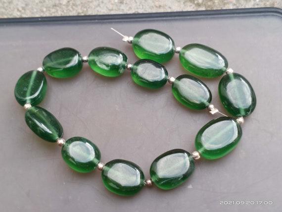 Aaa green serpentine bead oval shape serpentine bracelet