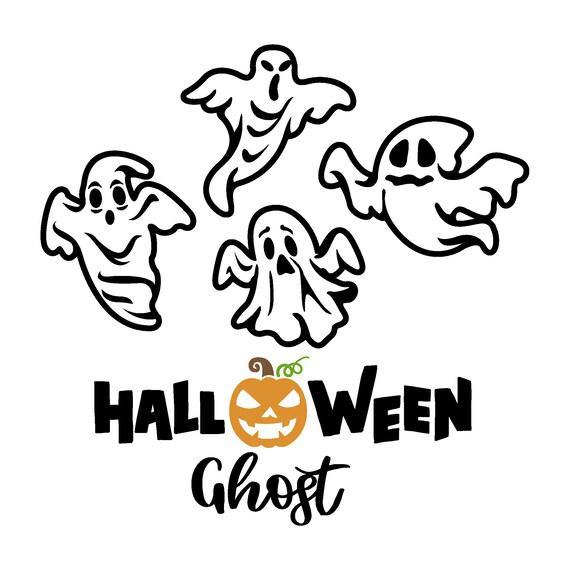 Halloween ghost svg cut file bundle, halloween svg, pumpkin