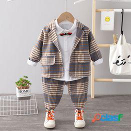 Traje de niño otoño nuevo 2021 versión coreana de los niños guapos medianos y pequeños niños's primavera y otoño de manga larga estilo occidental traje de tres piezas