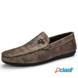 Zapatos casuales de cuero genuino para hombre marca 2020 mocasines para hombre mocasines resbalón transpirable en zapatos de conducción negros