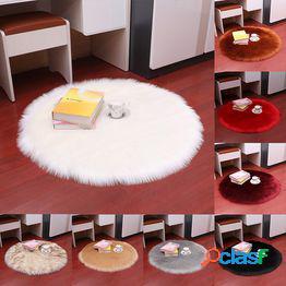 1pc alfombras mullidas alfombra antideslizante shaggy área comedor dormitorio alfombra alfombrilla decoración del hogar ronda